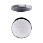 Round Sterling Silver Bezel Cups