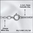 "18"" Sterling Silver Fine Flat Cable Chain"